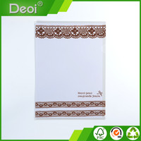 A0006 B5 L shape file folder with offset printing