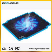 Super slim High quality patent design laptop cooling gel pad, standing fan for notebook