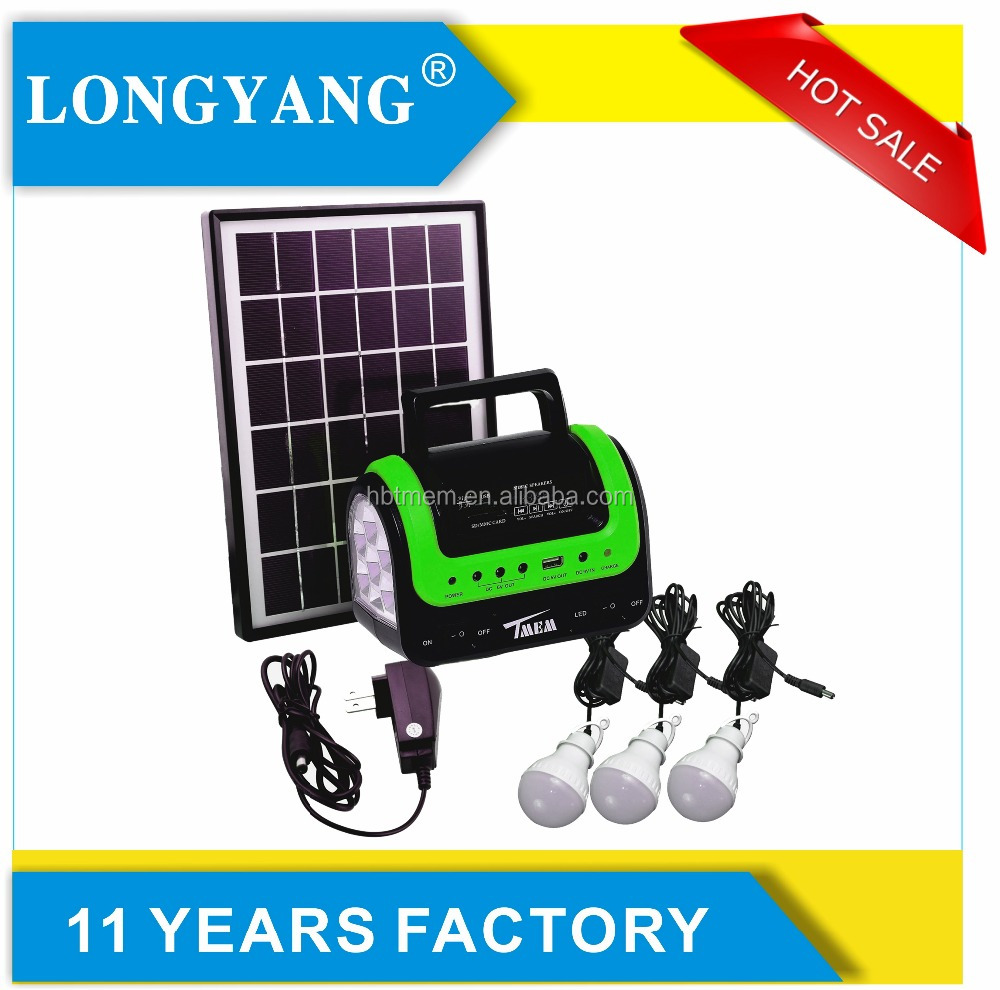 Radio and MP3 5w off grid solar home system for africa solar lighting system kit