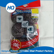 Kitchen ware household cleaning stainless steel round scourer