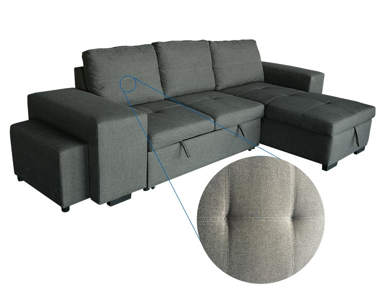 Modern style new fabric lazy corner sofa chair