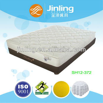 Pocket coil spring mattress with regular foam in filling