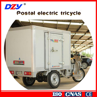 Express delivery cargo enclosed electric tricycle