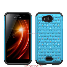 Protective cellphone case for Kyocera Hydro Wave C6740 Shockproof blind studded diamond case