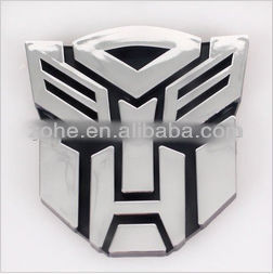 Car Transformer Sticker 3D ABS Chorome Autobots and Decepticons S/L/M Size Auto Emblem Decal Sticker