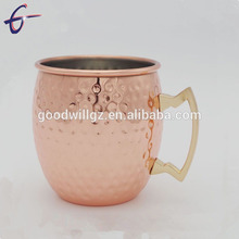 High quality cheap hammered gold enamelware mug copper moscow mule for cocktails