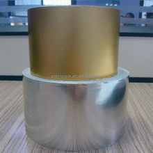 matte gold colored aluminum foil paper for cigarette packaging soft inner layer