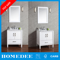 commercial thin bathroom double sink vanity