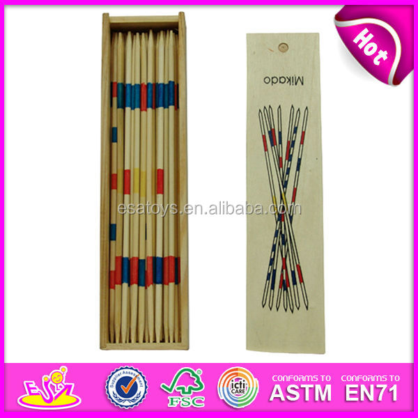 2015 educational wooden mikado game for kids,wooden mikado and domino set toy with wooden box,wooden toy mikado for fun WJ276929