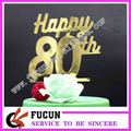 wholesale Customized Laser cutting plastic cake topper birthday acrylic cake topper