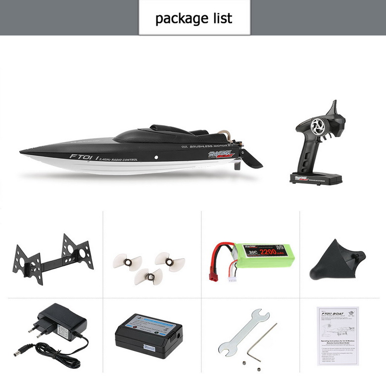 FeiLun FT011 RC Boat 2.4G High Speed Brushless Motor Built-In Water Cooling System Remote Control Racing Speedboat RC Toys Gift