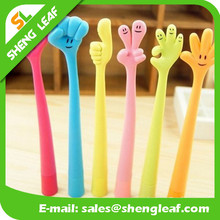 Hot selling new fahion soft cute design rubber finger ballpoint pen