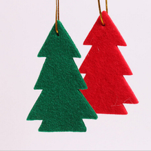 2016 trending hot products tree shape felt christmas hanging ornament from china gold supplier