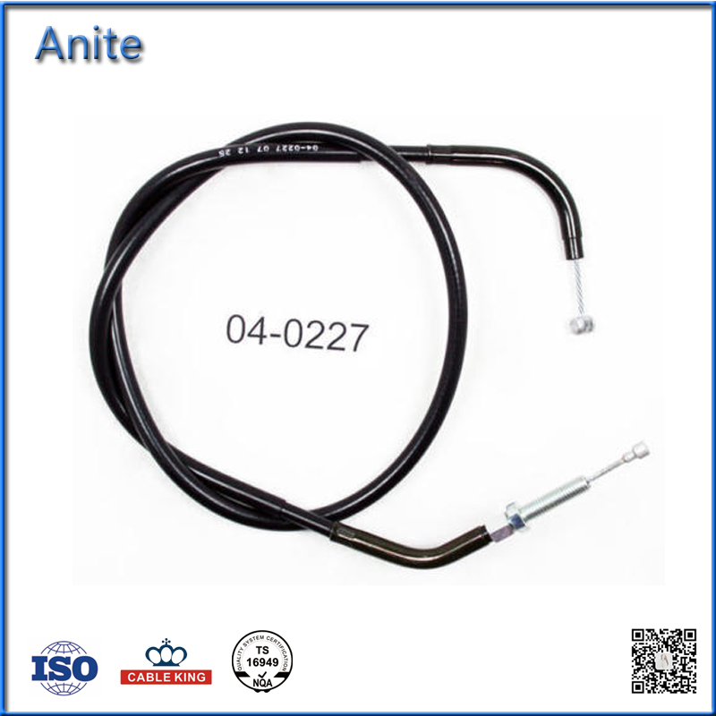 Custom BLACK VINYL CLUTCH CABLE For SUZUKI GSXR1000 Motorcycle Parts In China