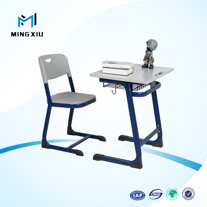 Henan mingxiu high quality college school desk and chair / student desk and table