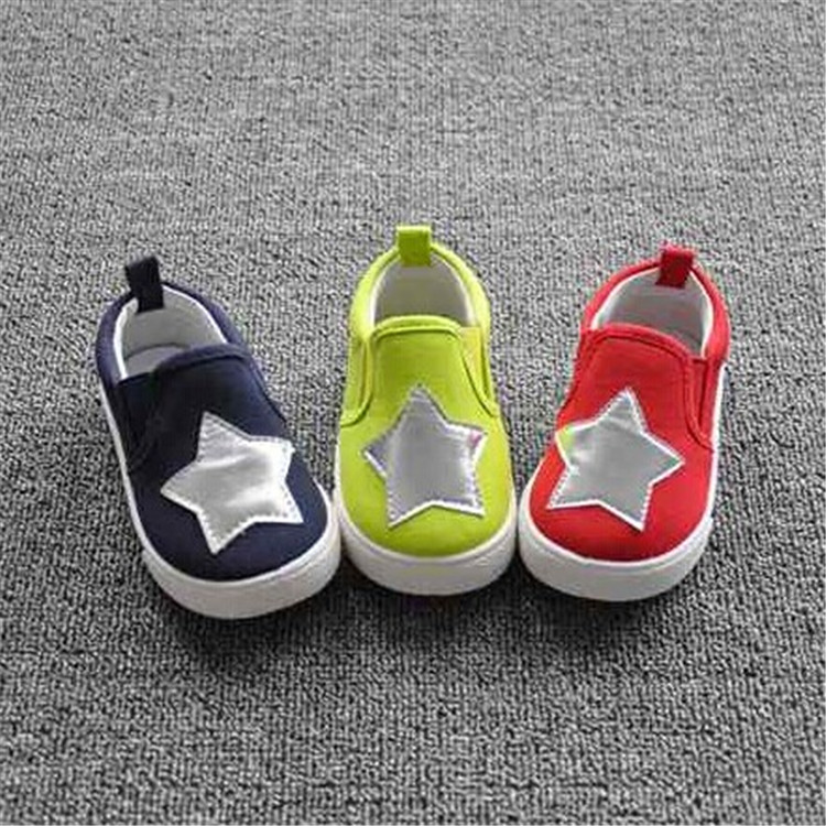 2015 foreign trade kids canvas shoes five-pointed star korean baby shoes