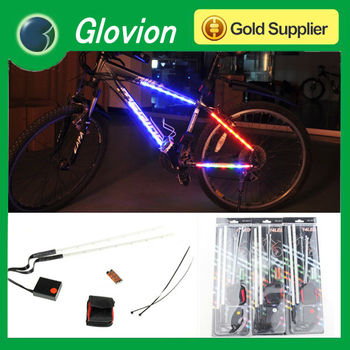 LED bike wheel light Flasshing 7 led bicycle spoke light LED bike frame warning stick