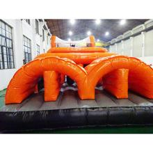 high quality PVC sports outdoor activities giant inflatable obstacle course floating obstacle course