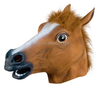 Men's Fantastic Whimsey Costume Latex Horse Head Mask