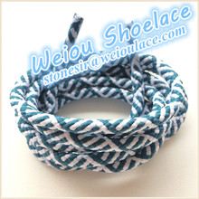 Different shoelace styles basketball shoelaces boot shoe laces