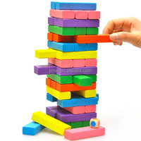 Colored 48pcs Wooden Jenga