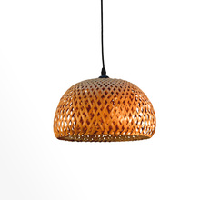 Modern Bamboo Rattan led Lantern light Chandelier