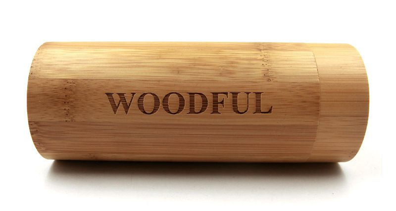 Bamboo sunglasses wooden tube case