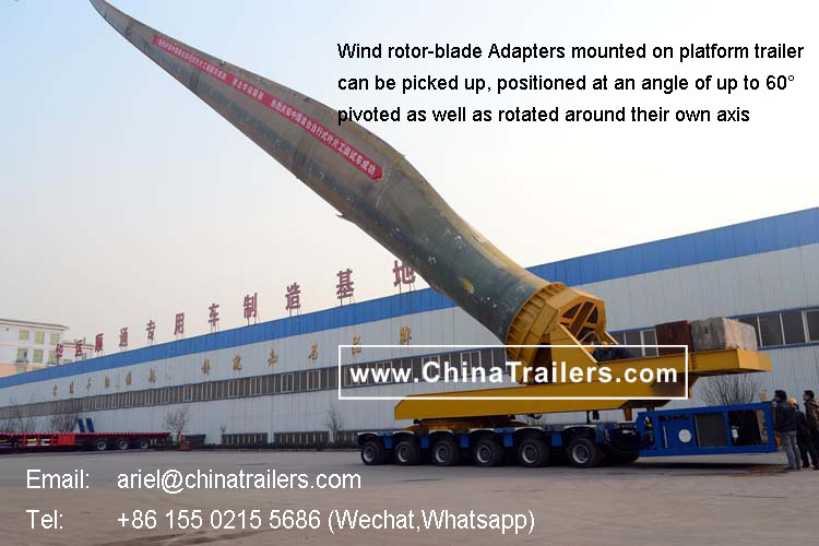 ChinaTrailers Wind Rotor Blade Trailer for Russia