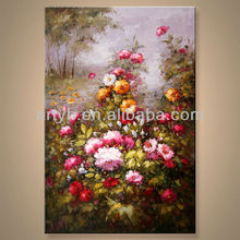 Newest Handmade Artist Flower Home Decor Art Painting In Discount Price