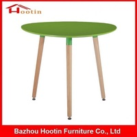 New Style Round Plastic Wooden Frame Three Leg Dining Table