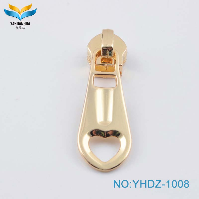 Light gold zinc alloy  new product fashion custom metal zip puller