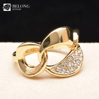 BLDR0014 wholesale fashion jewelry pave diamond imitation 18k gold ring