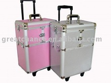 Professional Dog Grooming Trolley Case, Aluminum Makeup Trolley Case