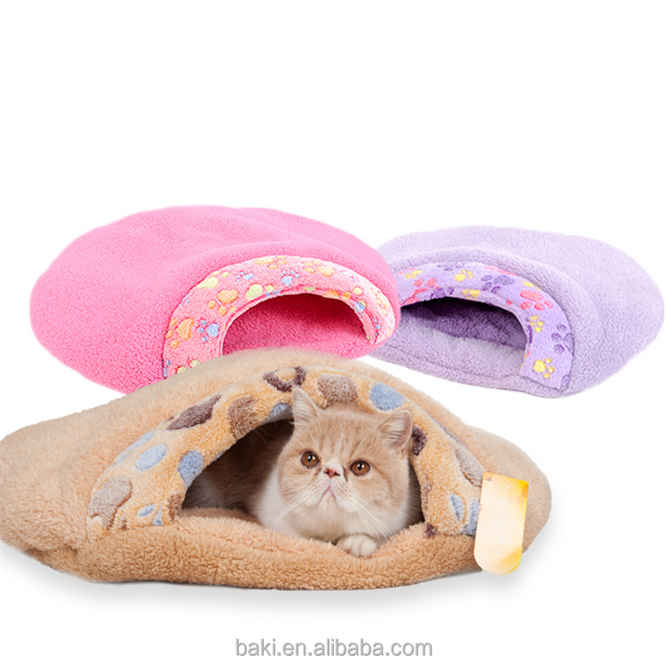 Hot Sale Pet Products Warm Soft Cat House Pet Dog Sleeping Bag Cat Bed
