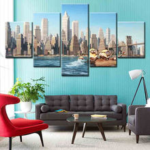New arrival Design 5 piece Modern Abstract Home Goods Wall Art stretched and framed printed canvas Canvas Painting wall decor