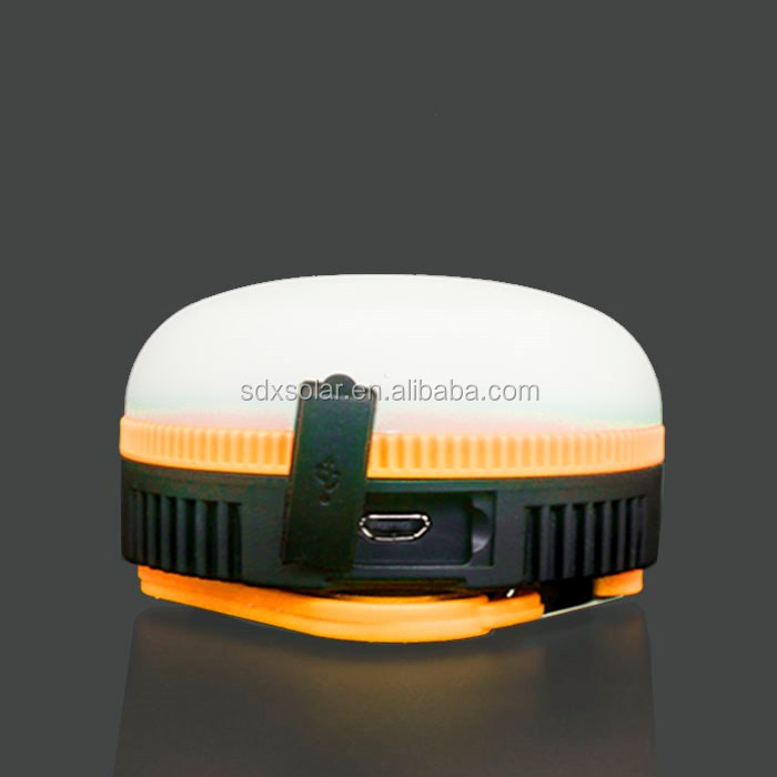 solar powered 18650 li-on battery led camping lantern with usb charger