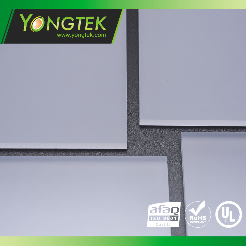 Polycarbonate material diffuser sheet panel led light component
