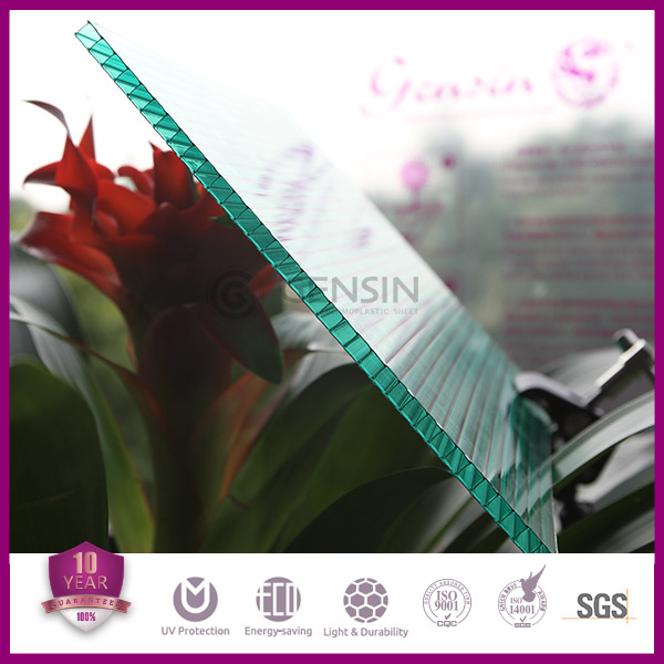 Lixin 4mm UV Protection hollow polycarbonate sheet 2100*5800mm