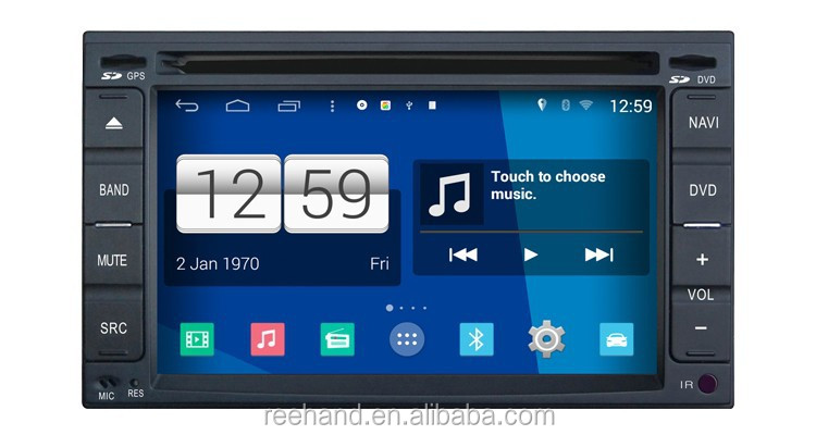 "Android 4.4 6.2"" navigator Gps video out , car player for universal with Wifi/3G/DVR"