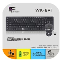 Slim laser keyboard and mouse combo Support
