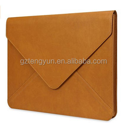 Water-resistant PU Leather Sleeve for iPad Pro, MacBook Air and Pro, Notebook,13-13.3 Inch