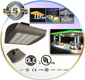 New product Bridgelux chip 80W LED high bay light,gas station led canopy lights 140lm/w