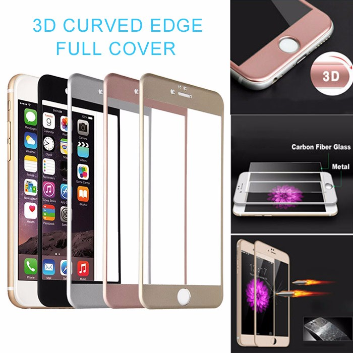 3D Full Coverd Color Cell Phone Screen Protector For iPhone 5 6 6s 6splus