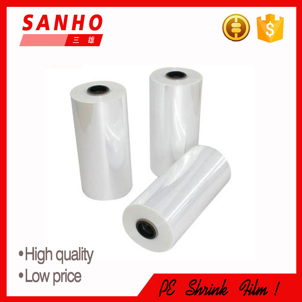 Chinese Manufacturer Top Supplier shrink plastic pe film with nice quality and lower price