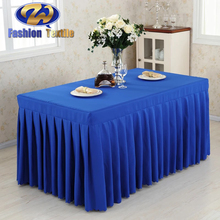 Blue long dining table cloth cover