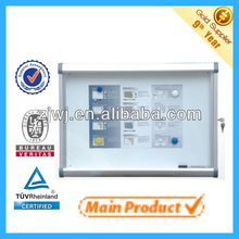 watch wall mount glass display cabinets aluminum case waterproof outdoor display cabinets