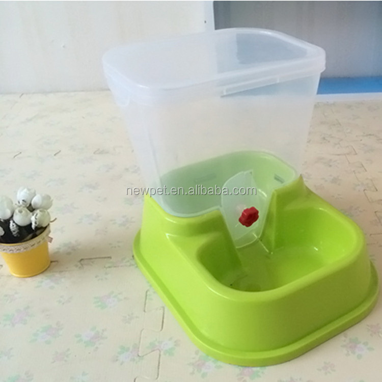 Super quality fashionable best plastic automatic pet feeder dog puppy bowl