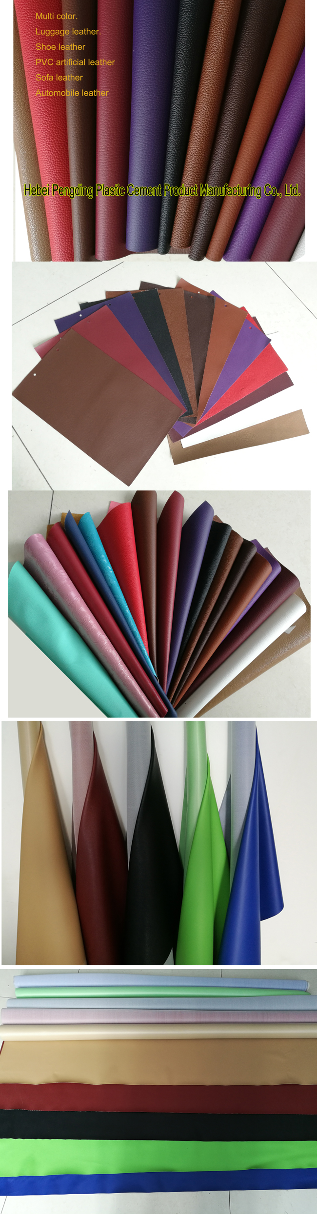 Elastic and waterproff PVC leather is durable
