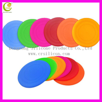 Hot selling on Europe market many colors high quality silicone rubber dog frisbee/custom logo wholesale silicone frisbee for pet