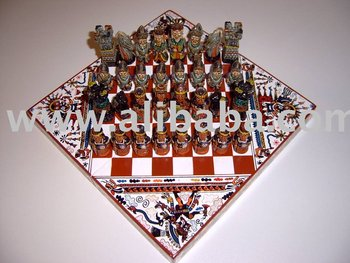 Chess Set Handmade Incas Vs. Spaniards